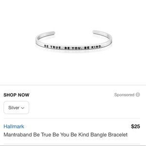 "NEW Mantraband ""be true be you be kind"""